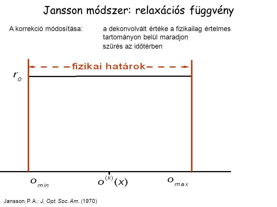 Jansson módszer: relaxációs függvény