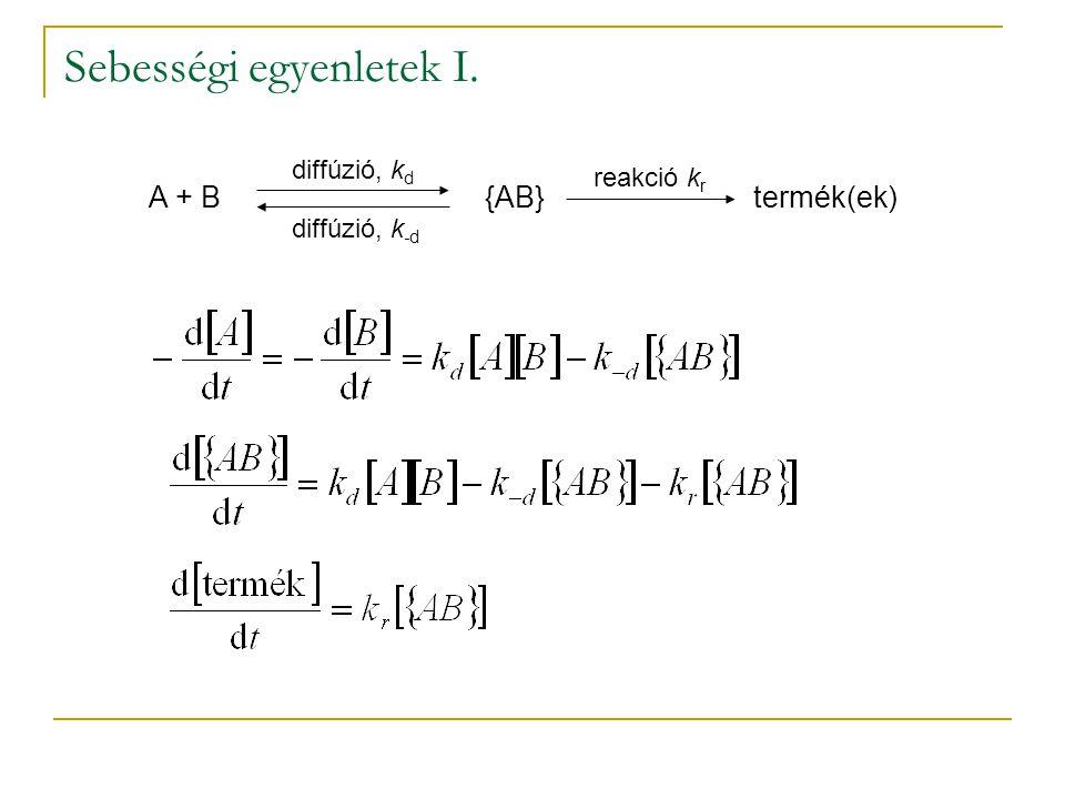Sebességi egyenletek I.