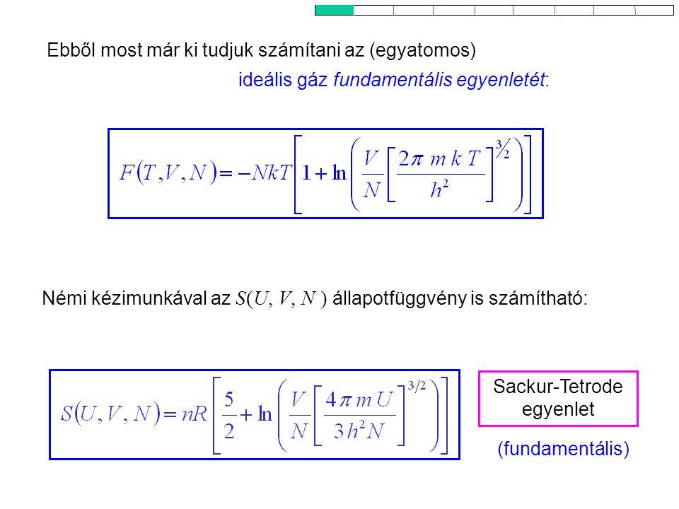 Sackur-Tetrode egyenlet