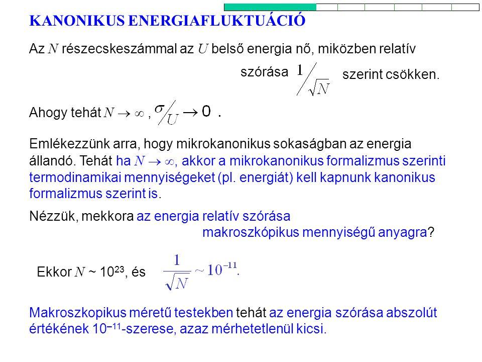 KANONIKUS ENERGIAFLUKTUÁCIÓ 2