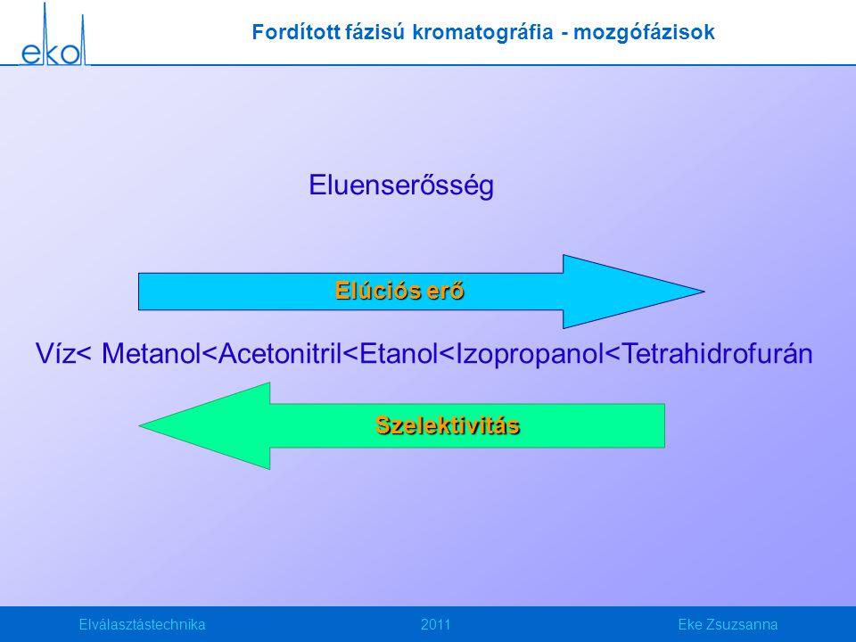 Fordított fázisú kromatográfia - mozgófázisok