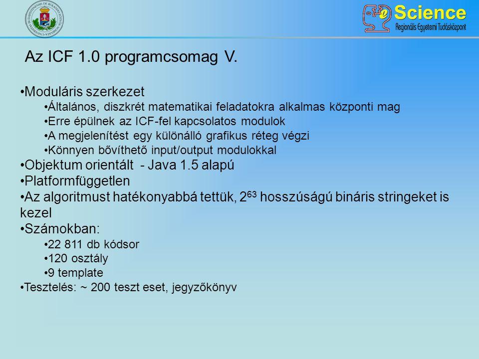 Az ICF 1.0 programcsomag V. Moduláris szerkezet