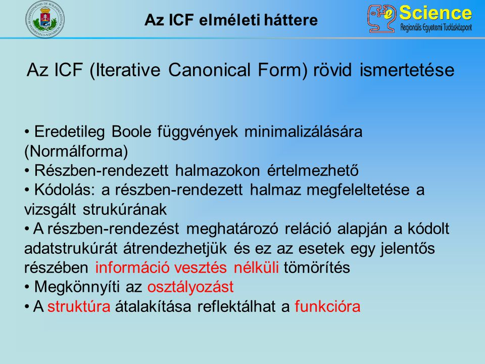 Az ICF elméleti háttere