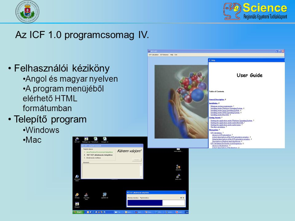 Az ICF 1.0 programcsomag IV.