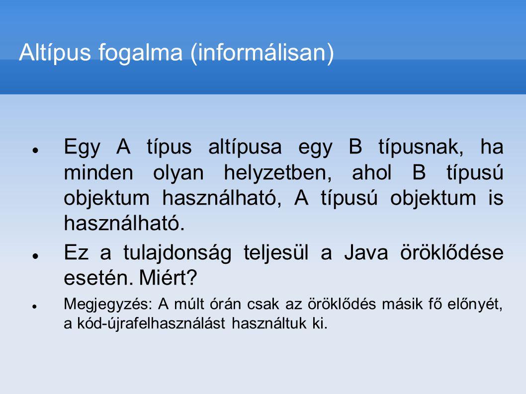 Altípus fogalma (informálisan)