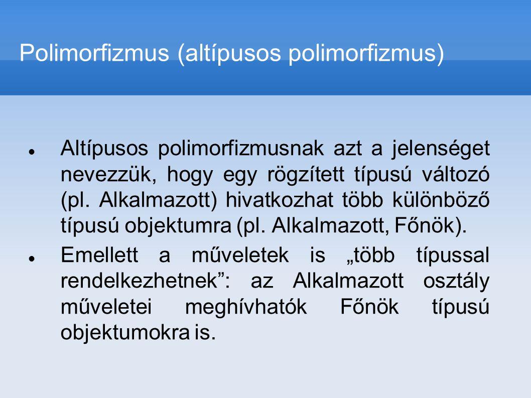 Polimorfizmus (altípusos polimorfizmus)