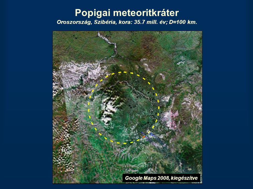 Popigai meteoritkráter Oroszország, Szibéria, kora: 35. 7 mill