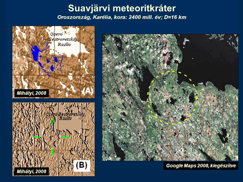 Suavjärvi meteoritkráter Oroszország, Karélia, kora: 2400 mill
