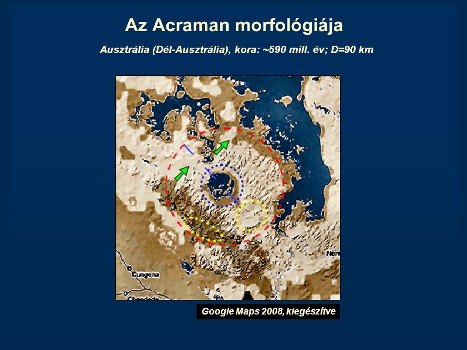 Az Acraman morfológiája Ausztrália (Dél-Ausztrália), kora: ~590 mill