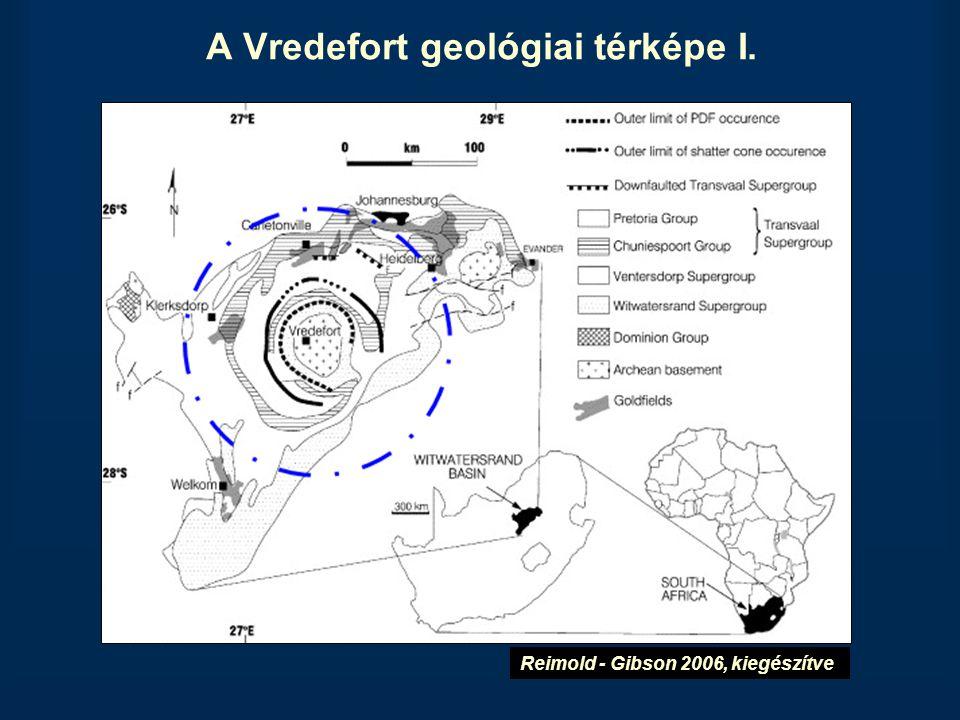 A Vredefort geológiai térképe I.