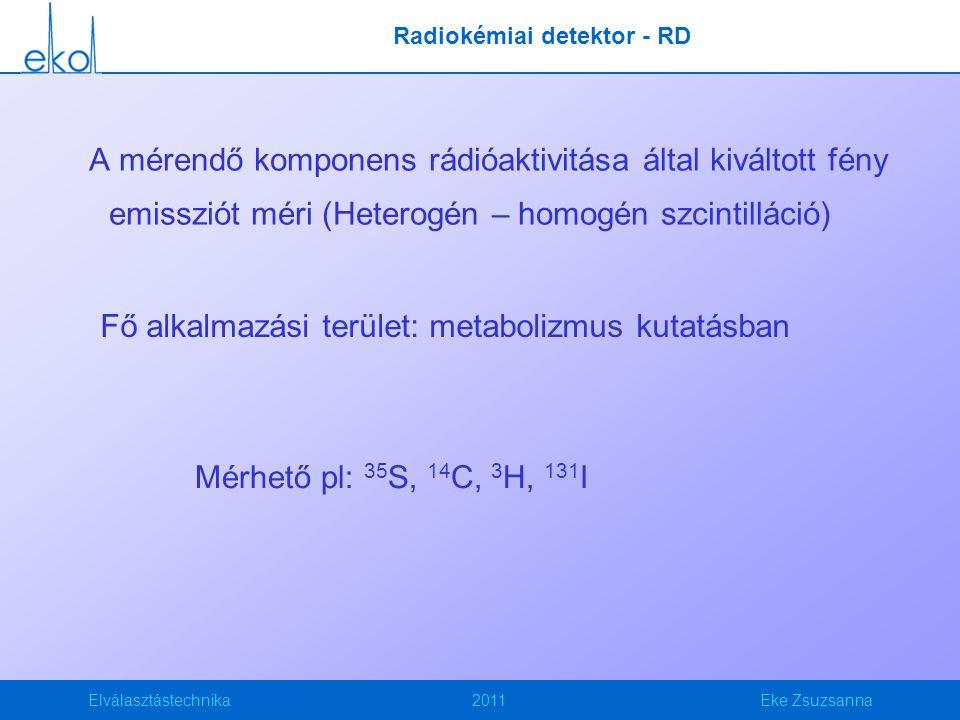 Radiokémiai detektor - RD
