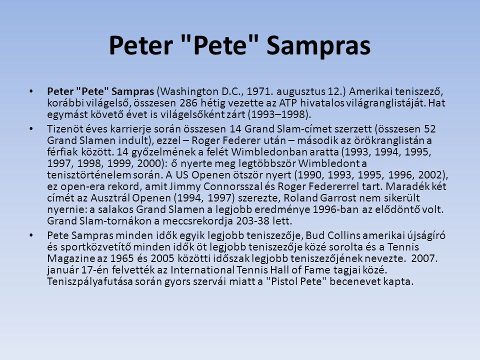 Peter Pete Sampras