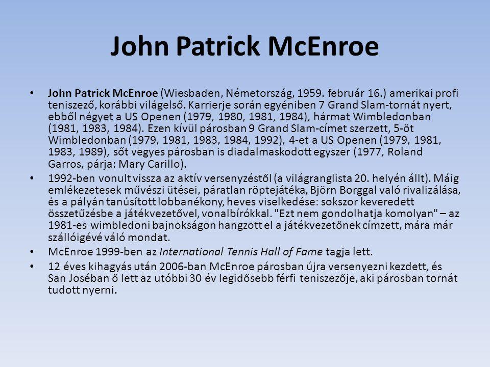 John Patrick McEnroe