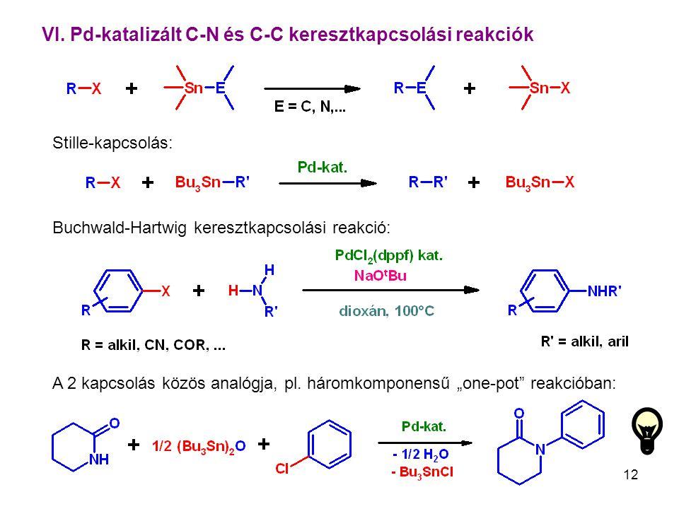 VI. Pd-katalizált C-N és C-C keresztkapcsolási reakciók