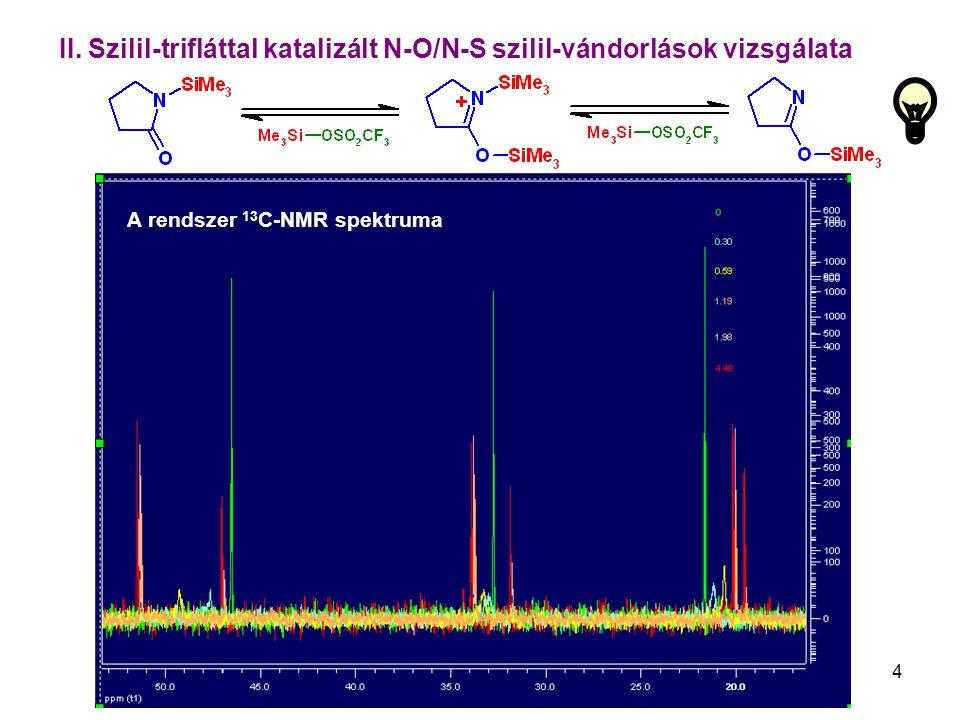 II. Szilil-trifláttal katalizált N-O/N-S szilil-vándorlások vizsgálata
