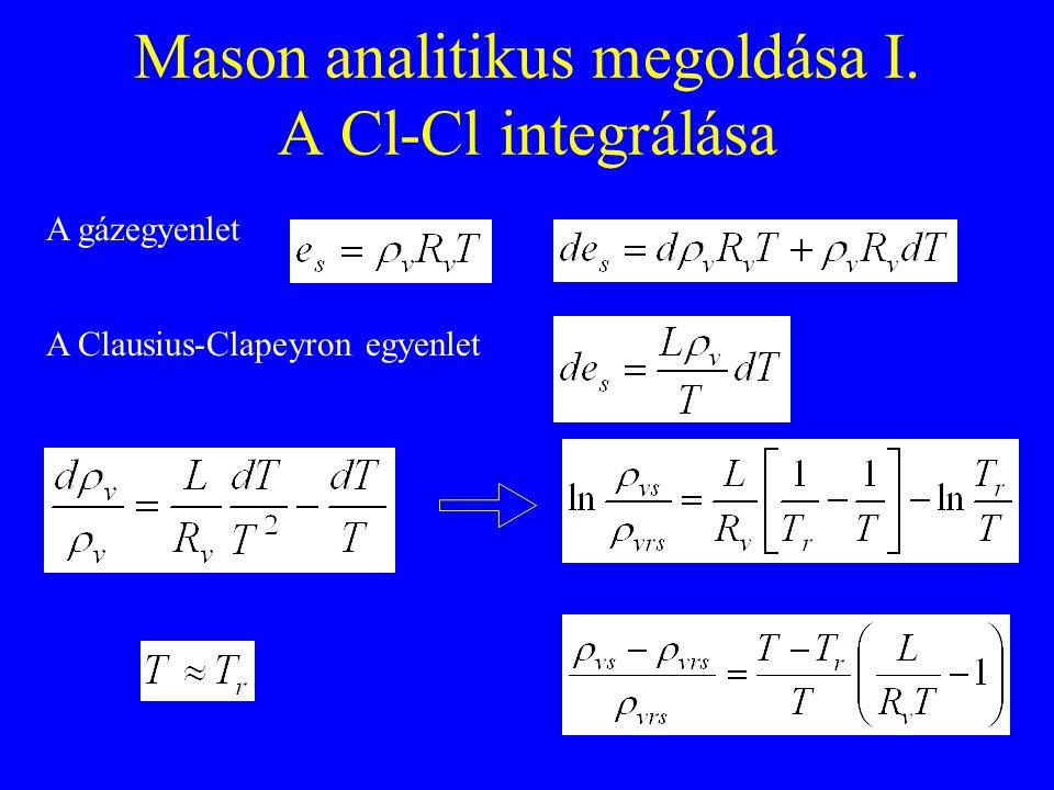 Mason analitikus megoldása I. A Cl-Cl integrálása