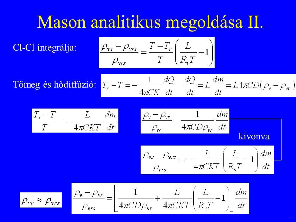 Mason analitikus megoldása II.