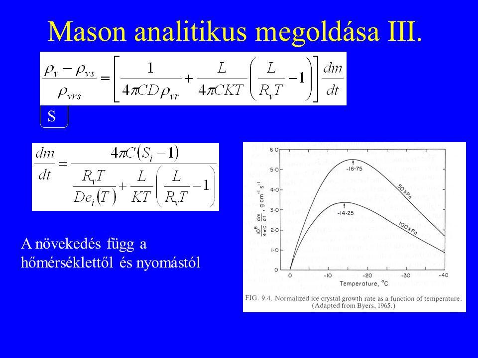 Mason analitikus megoldása III.
