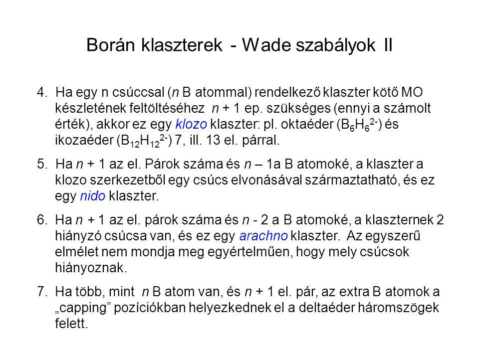 Borán klaszterek - Wade szabályok II