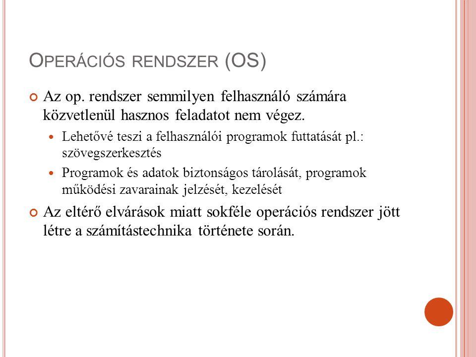 Operációs rendszer (OS)