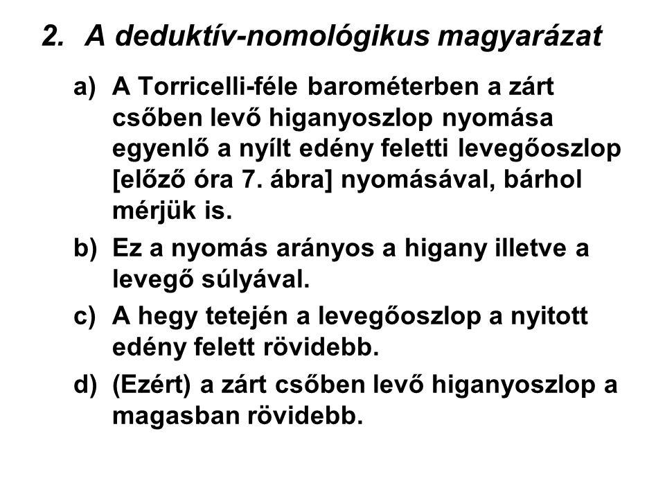 A deduktív-nomológikus magyarázat