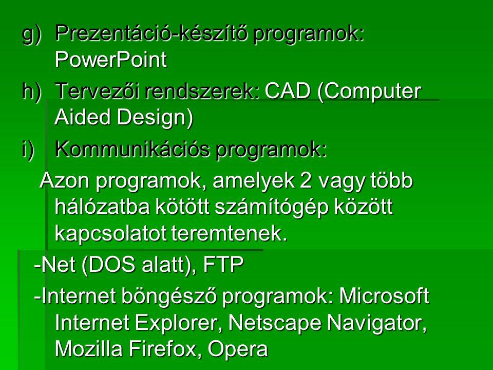 Prezentáció-készítő programok: PowerPoint