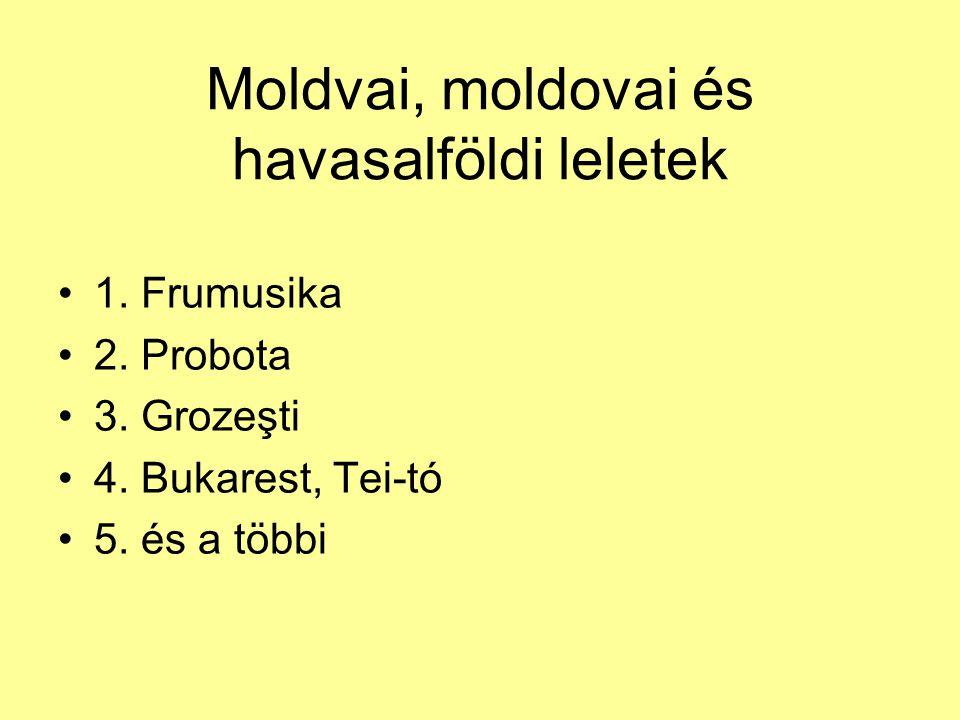Moldvai, moldovai és havasalföldi leletek