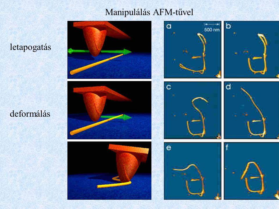 Manipulálás AFM-tűvel