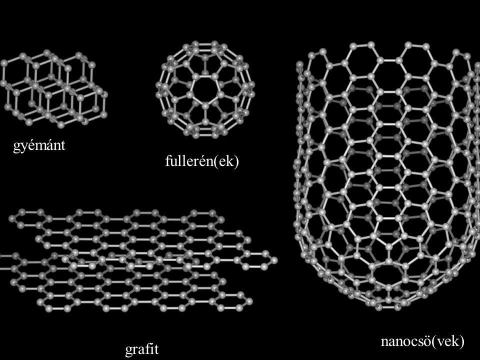 gyémánt fullerén(ek) nanocsö(vek) grafit