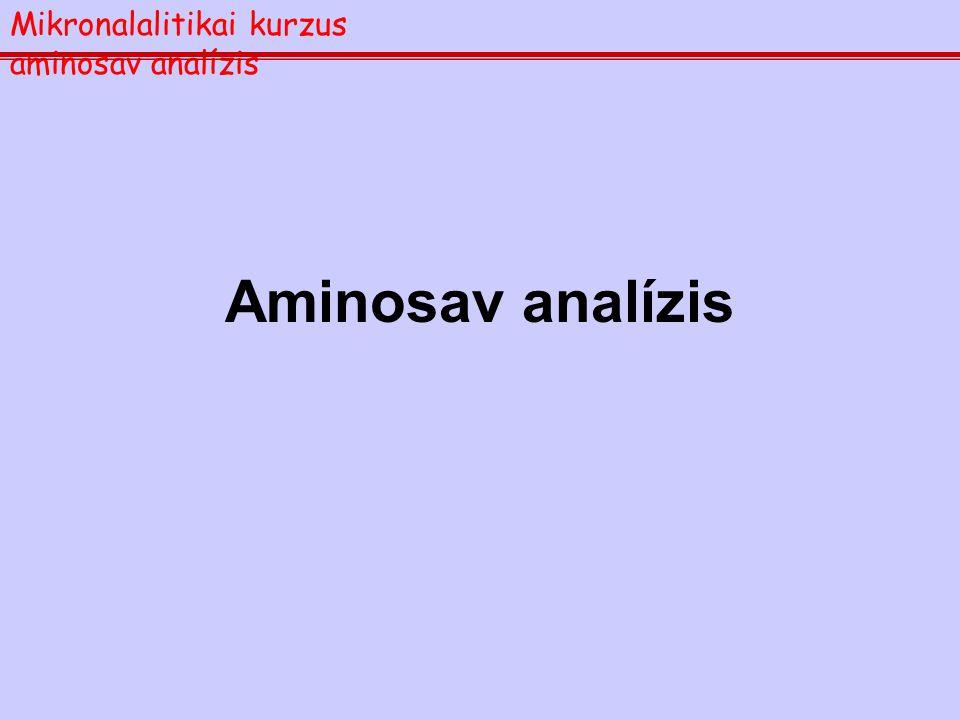 Mikronalalitikai kurzus aminosav analízis