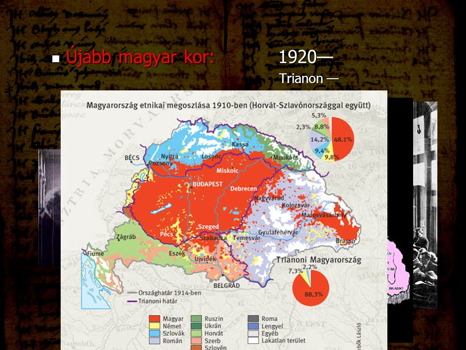 Újabb magyar kor: 1920— Trianon —