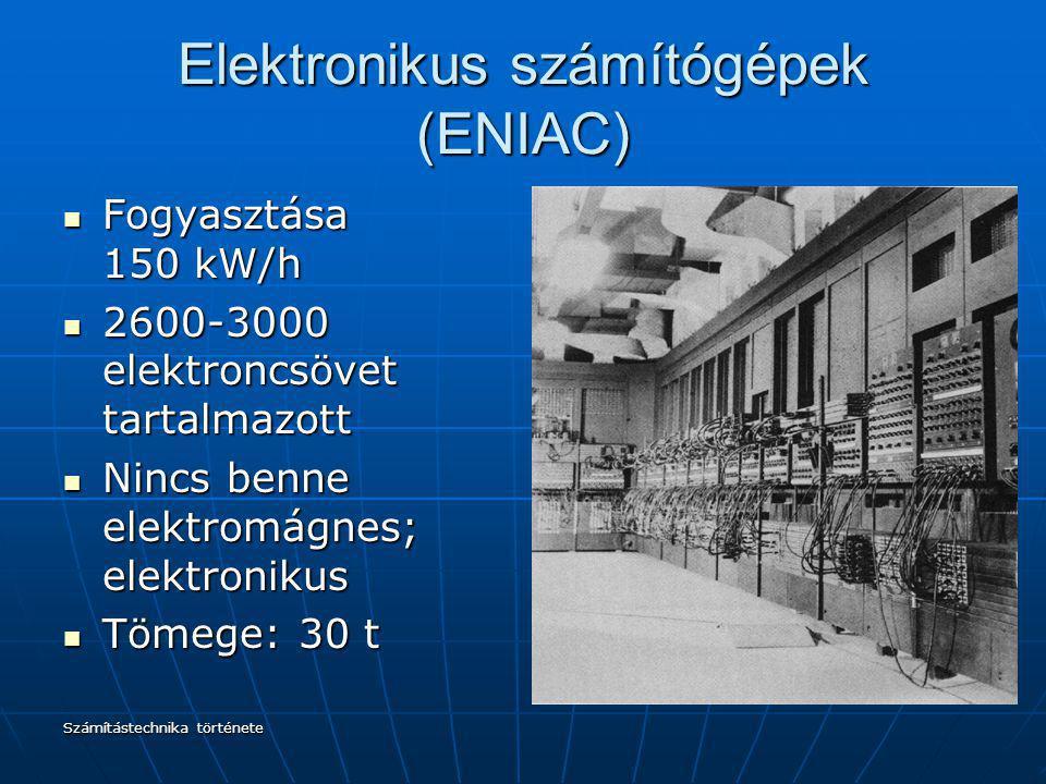 Elektronikus számítógépek (ENIAC)