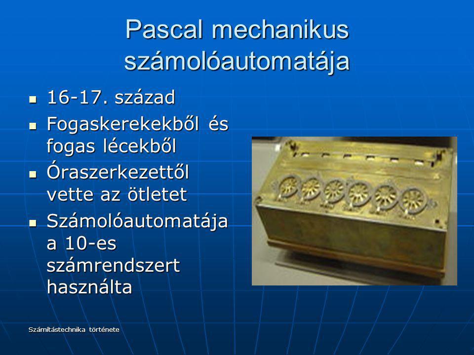 Pascal mechanikus számolóautomatája