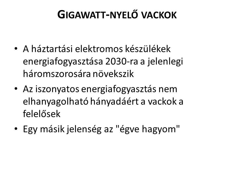 Gigawatt-nyelő vackok