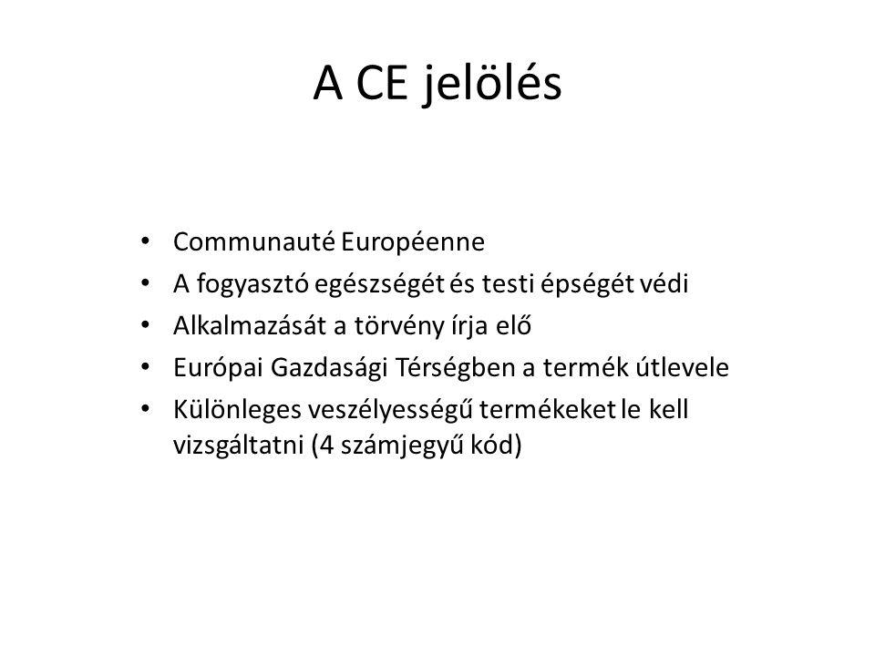 A CE jelölés Communauté Européenne