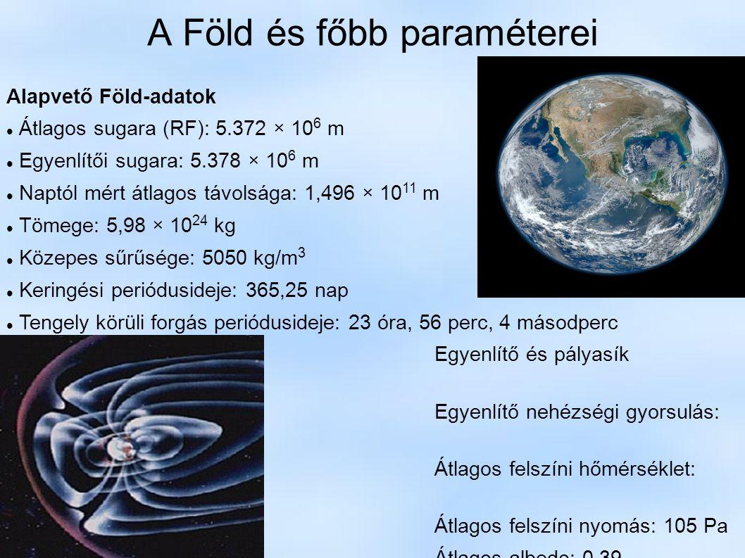 A Föld és főbb paraméterei