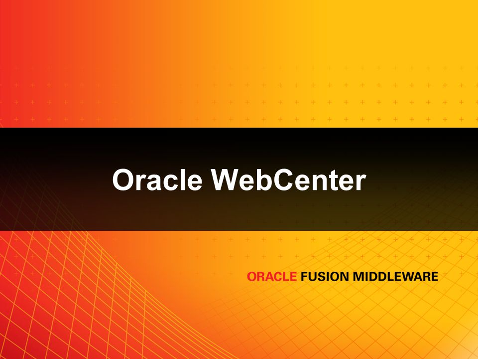 Oracle WebCenter
