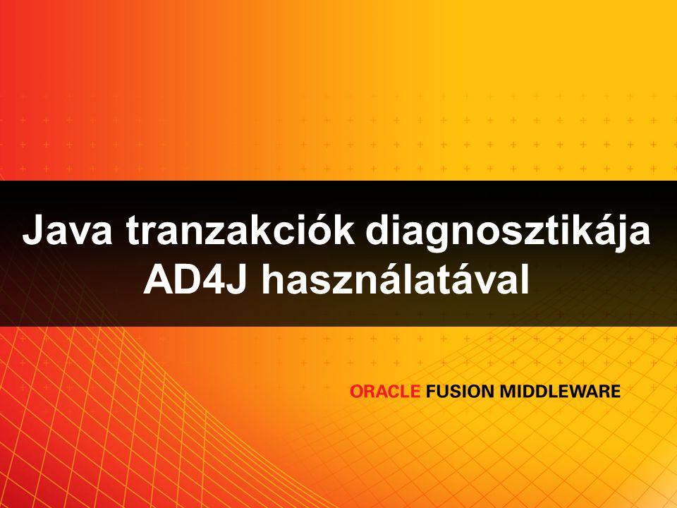 Java tranzakciók diagnosztikája AD4J használatával