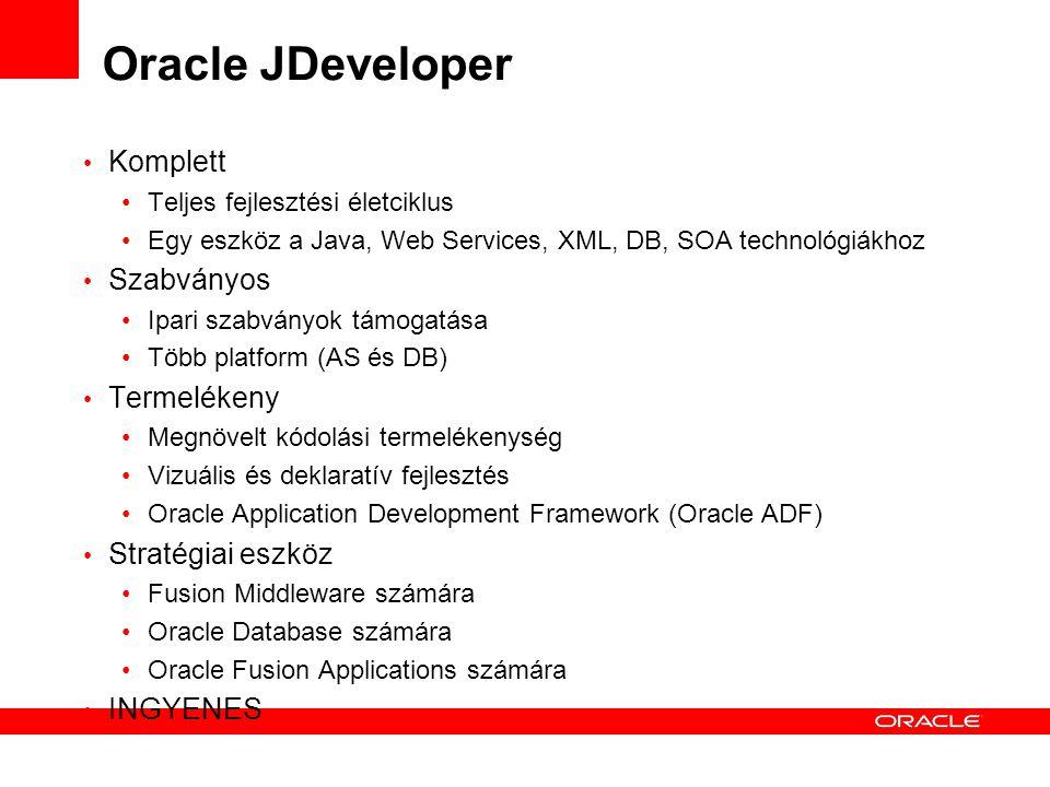 Oracle JDeveloper Komplett Szabványos Termelékeny Stratégiai eszköz