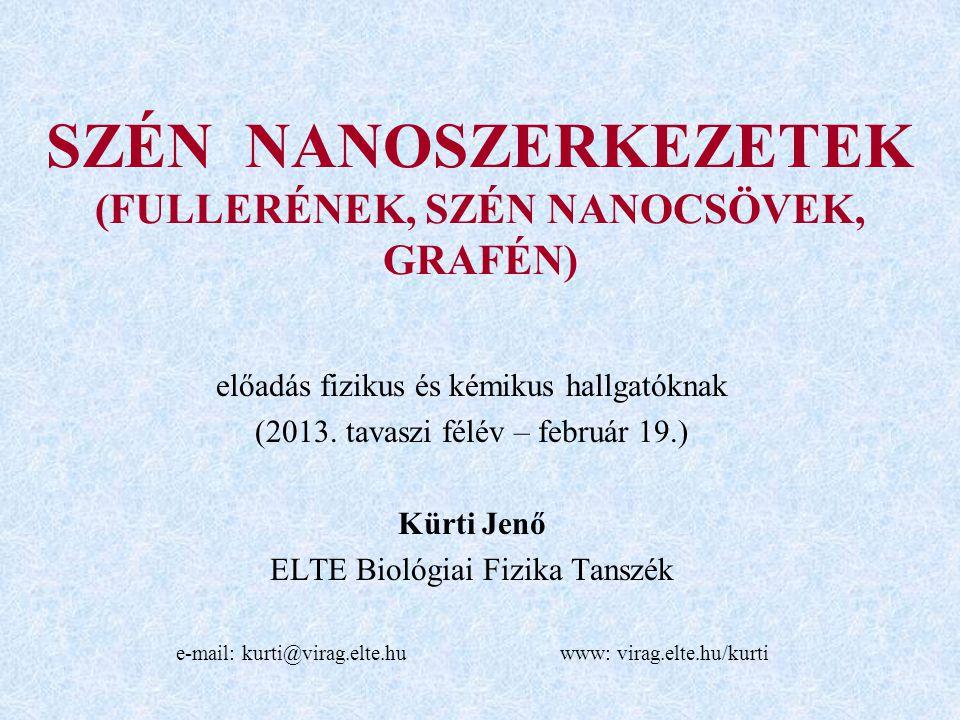 SZÉN NANOSZERKEZETEK (FULLERÉNEK, SZÉN NANOCSÖVEK, GRAFÉN)