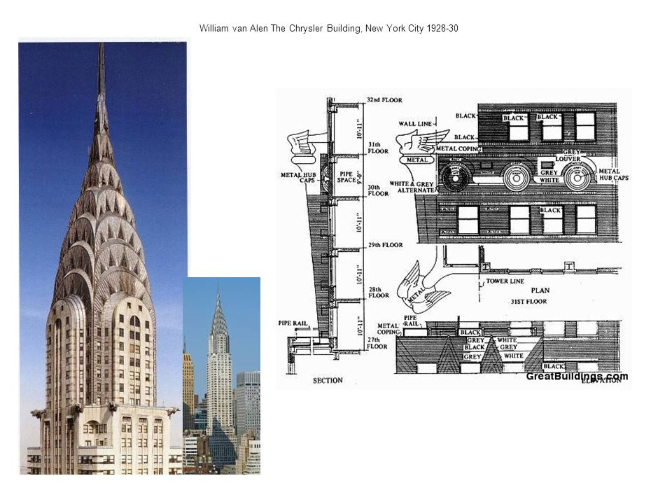William van Alen The Chrysler Building, New York City 1928-30