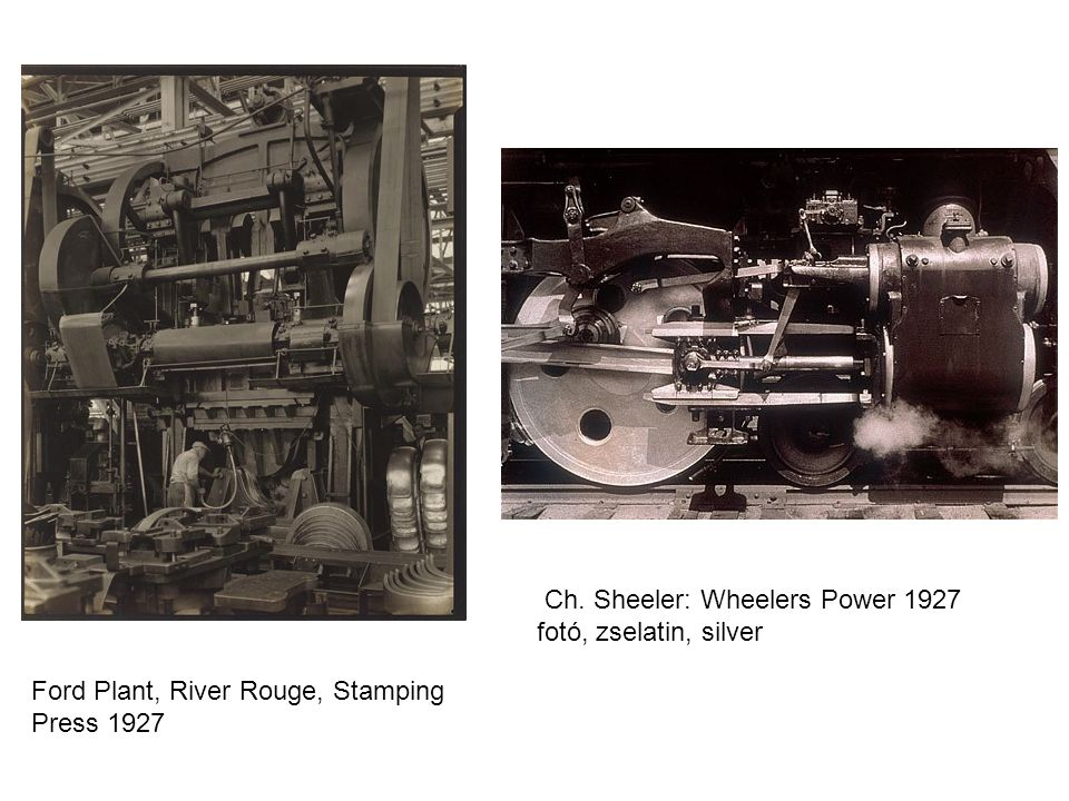 Ch. Sheeler: Wheelers Power 1927 fotó, zselatin, silver