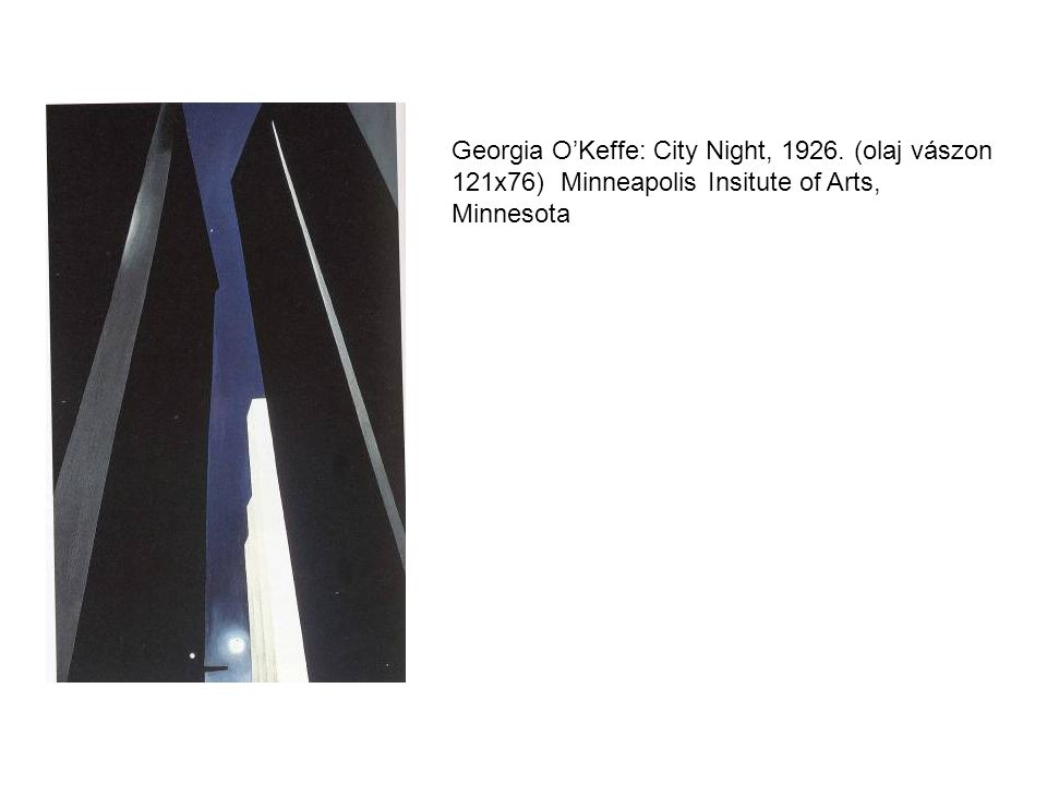 Georgia O'Keffe: City Night, 1926