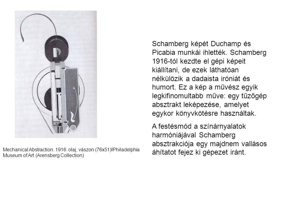 Schamberg képét Duchamp és Picabia munkái ihlették