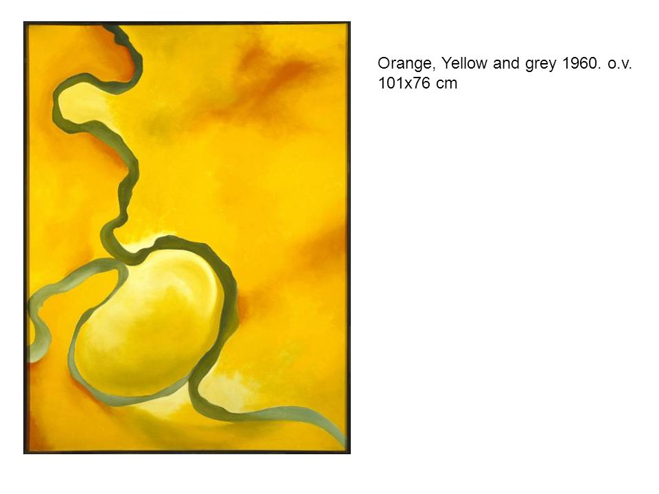 Orange, Yellow and grey 1960. o.v. 101x76 cm