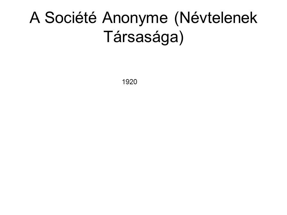 A Société Anonyme (Névtelenek Társasága)