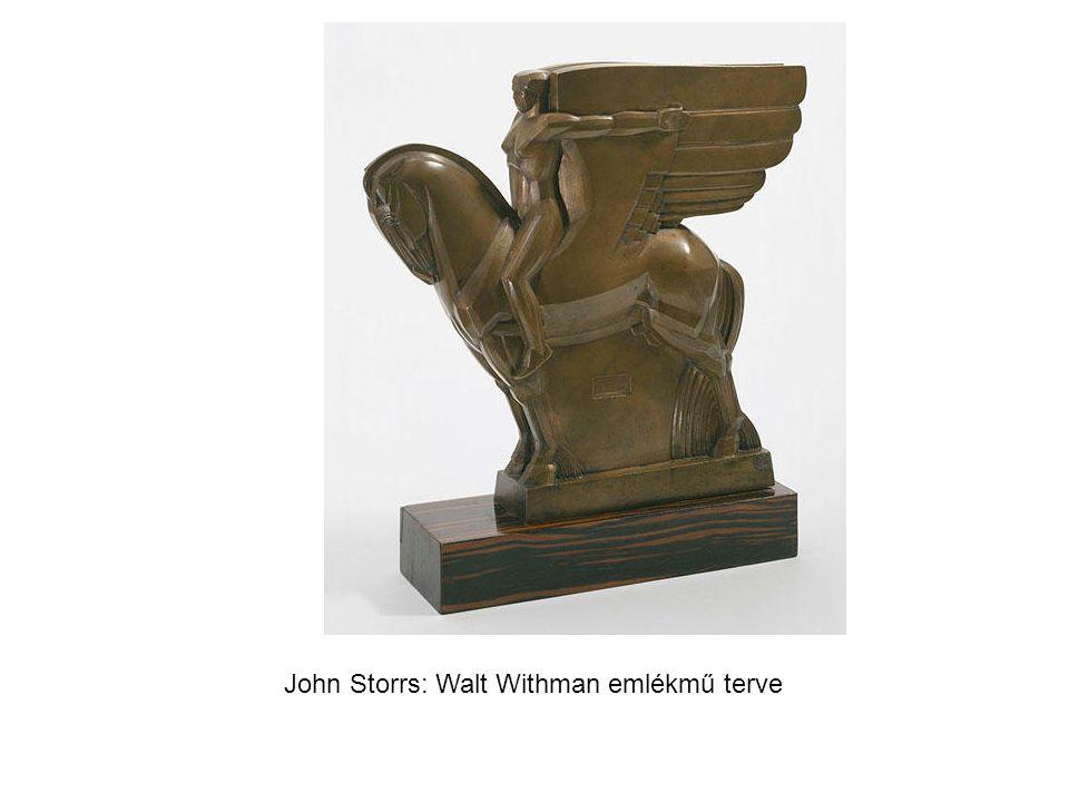 John Storrs: Walt Withman emlékmű terve