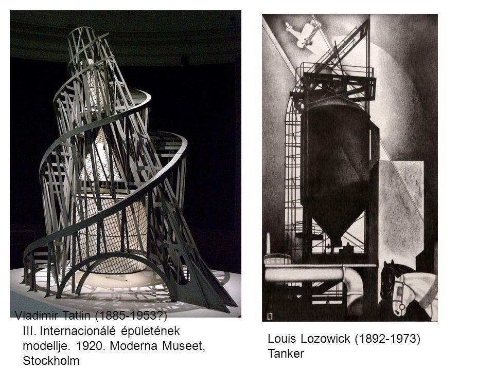 Vladimir Tatlin (1885-1953 ) III. Internacionálé épületének modellje. 1920. Moderna Museet, Stockholm.