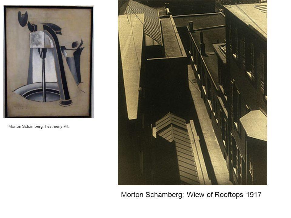 Morton Schamberg: Wiew of Rooftops 1917