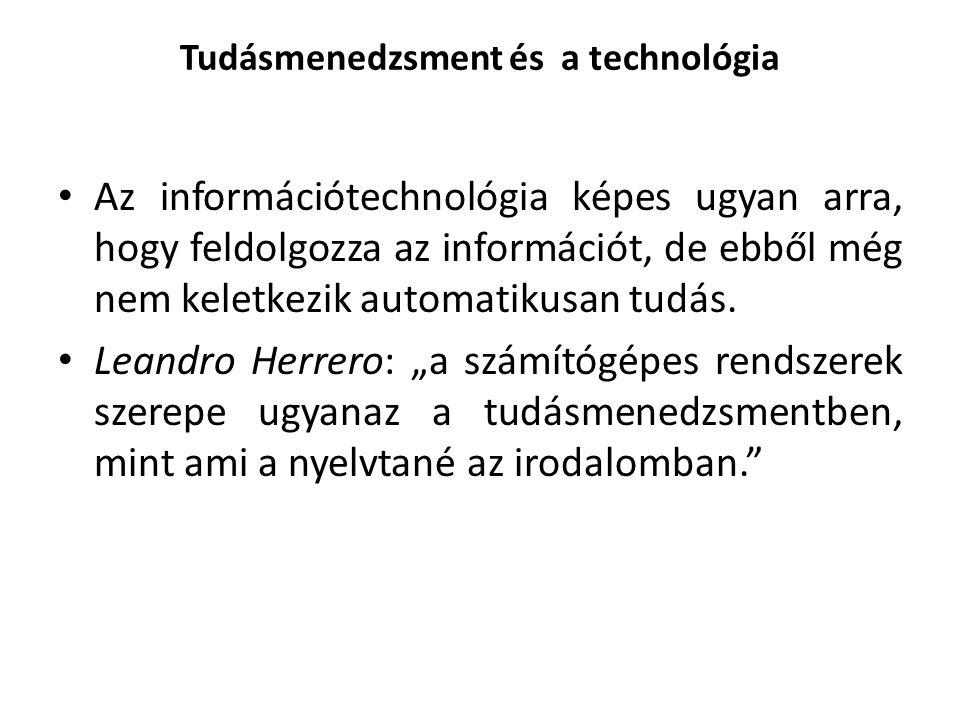 Tudásmenedzsment és a technológia